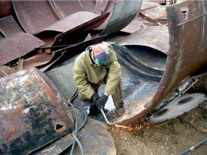 Демонтажные работы по металлоконструкциям на высоте